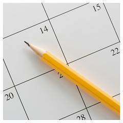 calendar and pencil 240x240